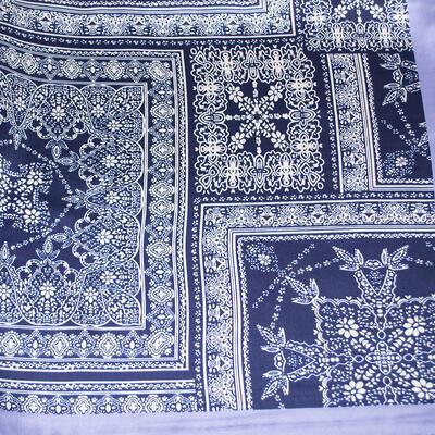 Small neckerchief - blue and white - 2