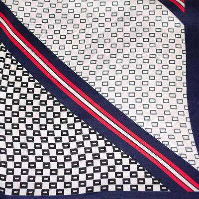 Small neckerchief - dark blue and white - 2