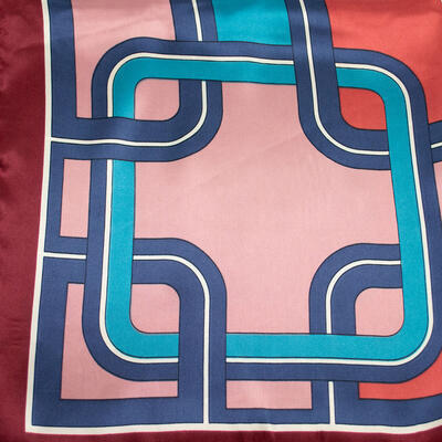 Small neckerchief - brown and pink - 2