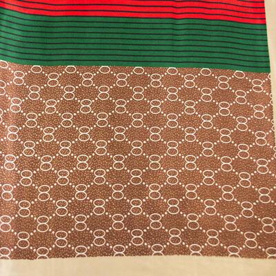 Small neckerchief - brown and green - 2