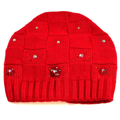 Knitted hat and scarf - red - 3