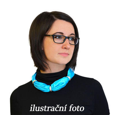 Bijoux Neckerchief Stewardess - blue with polka dot - 3