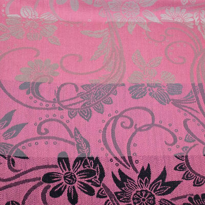 Classic warm double-sided scarf - grey and pink - 3