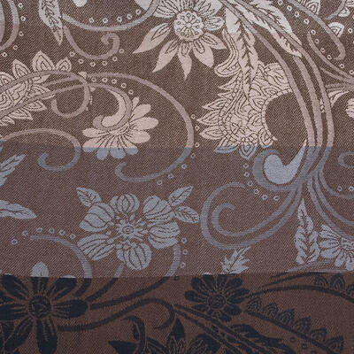 Classic warm double-sided scarf - grey and brown - 3