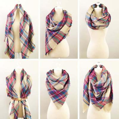 Blanket square scarf - multicolor - 3